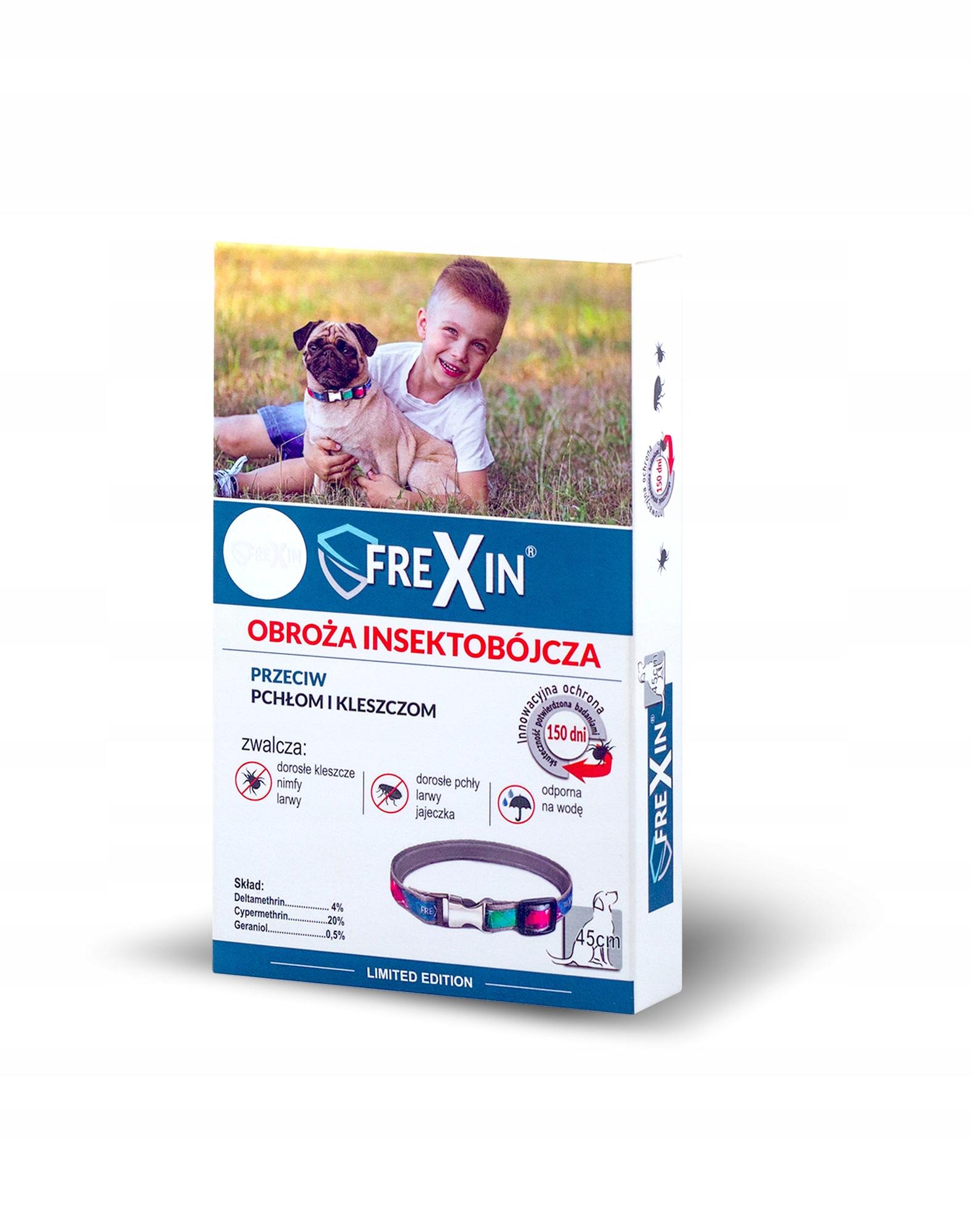 ФРЕКСИН Ошейник инсектицидный для собак 45 см Клещи