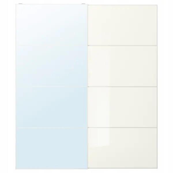 IKEA aula FARVIK Dvere zrkadlo biela 200x236 cm