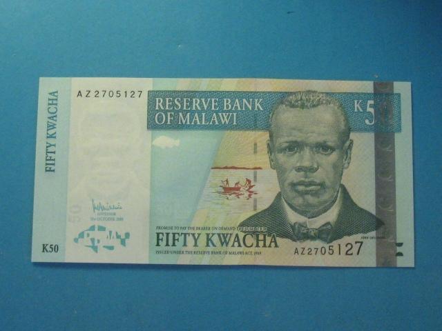 Malawi Banknot 50 Kwacha 2005 UNC P-53a