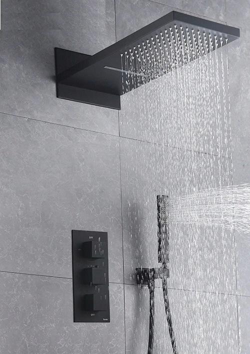 TAP BATH TAP SHOWER THERMOSTAT ЧЕРНЫЙ!