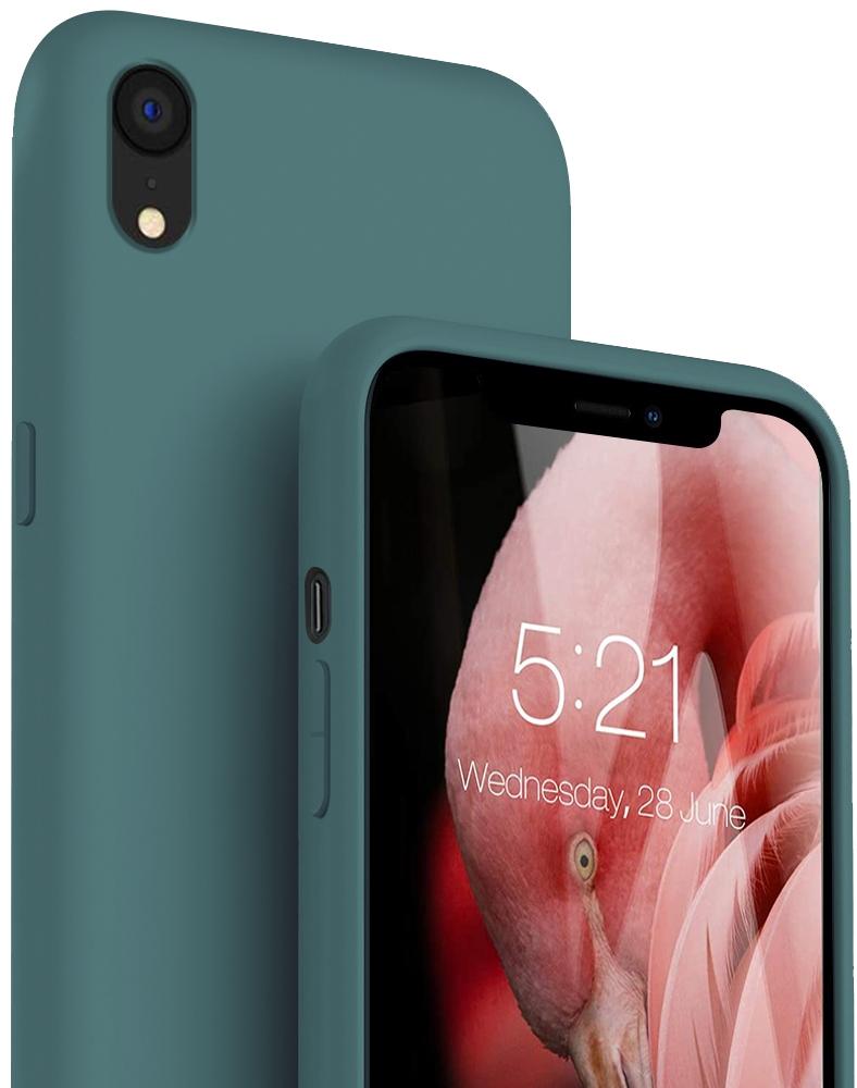Etui do iPhone XR Case Silicone + Szkło 9H