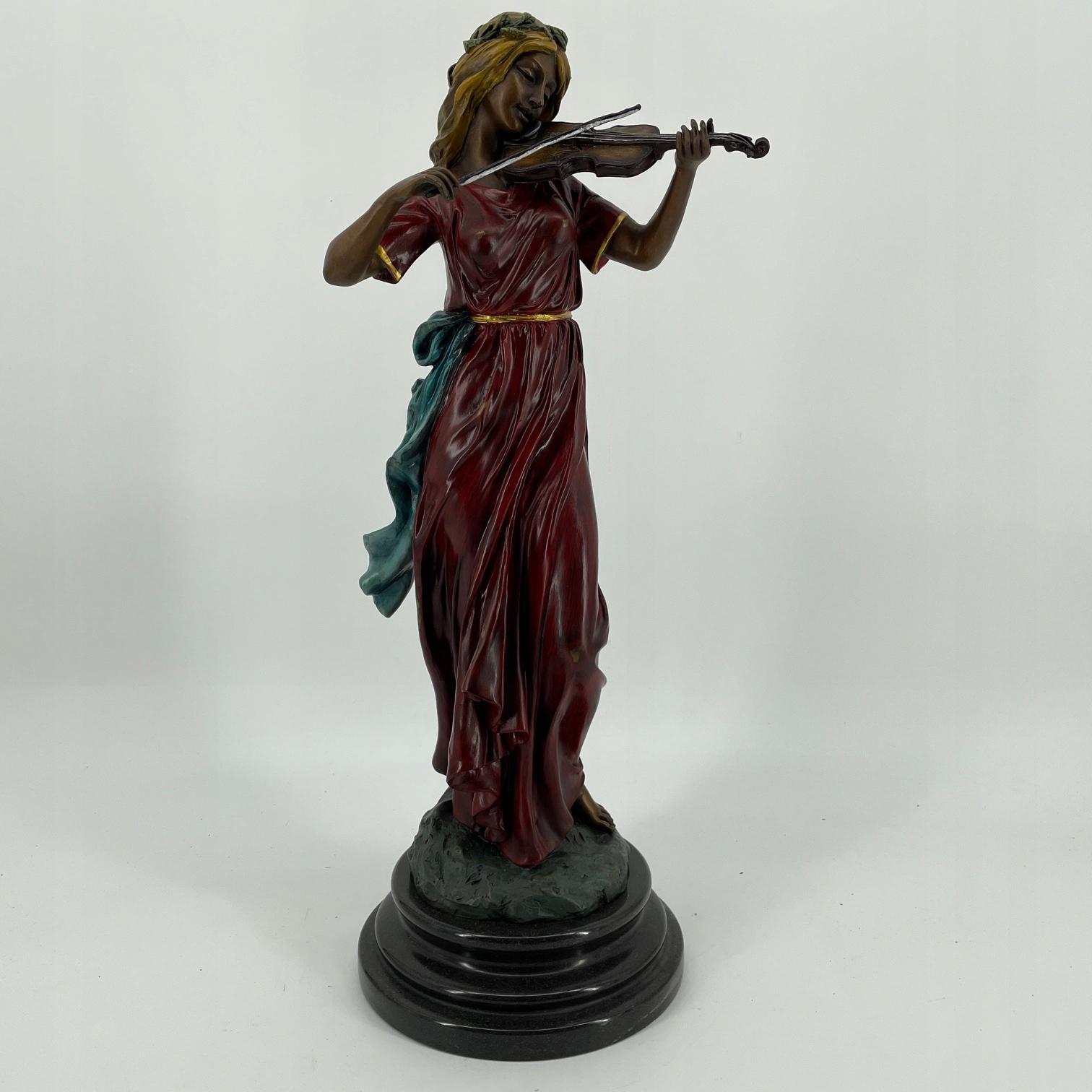 SKRZYPACZKA figura z brązu FRANCJA
