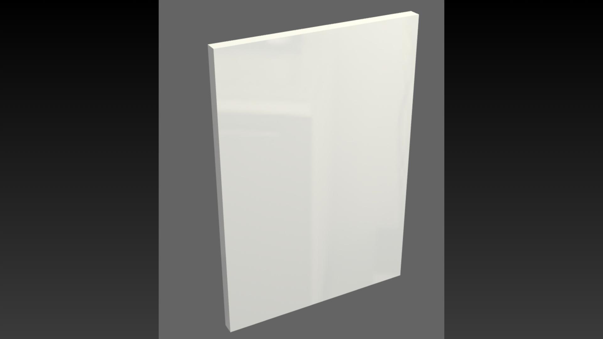 Akrylové čelá Akryl-24 WHITE GLOSS 900x372