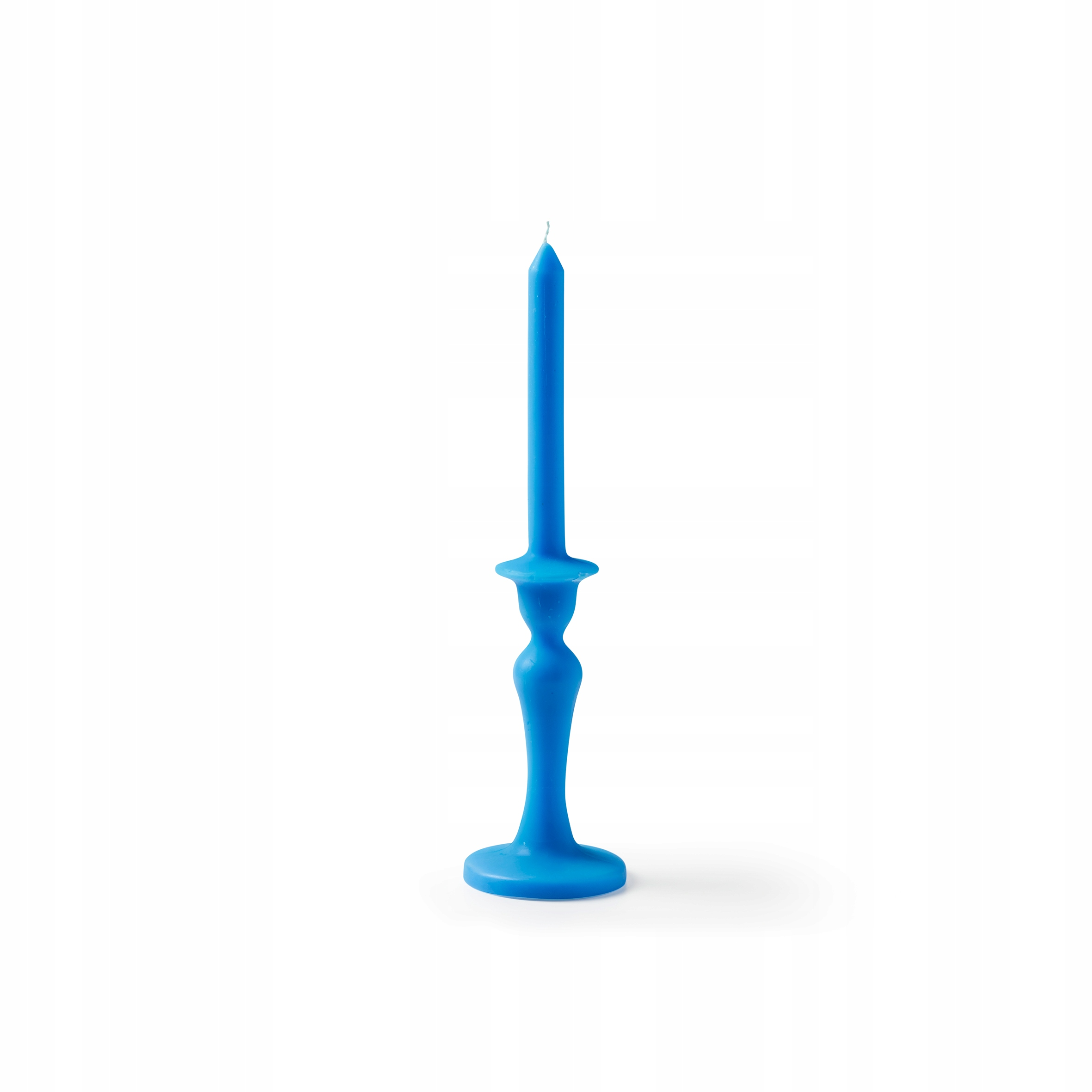 Modrá retro sviečka - doba horenia 10-12h