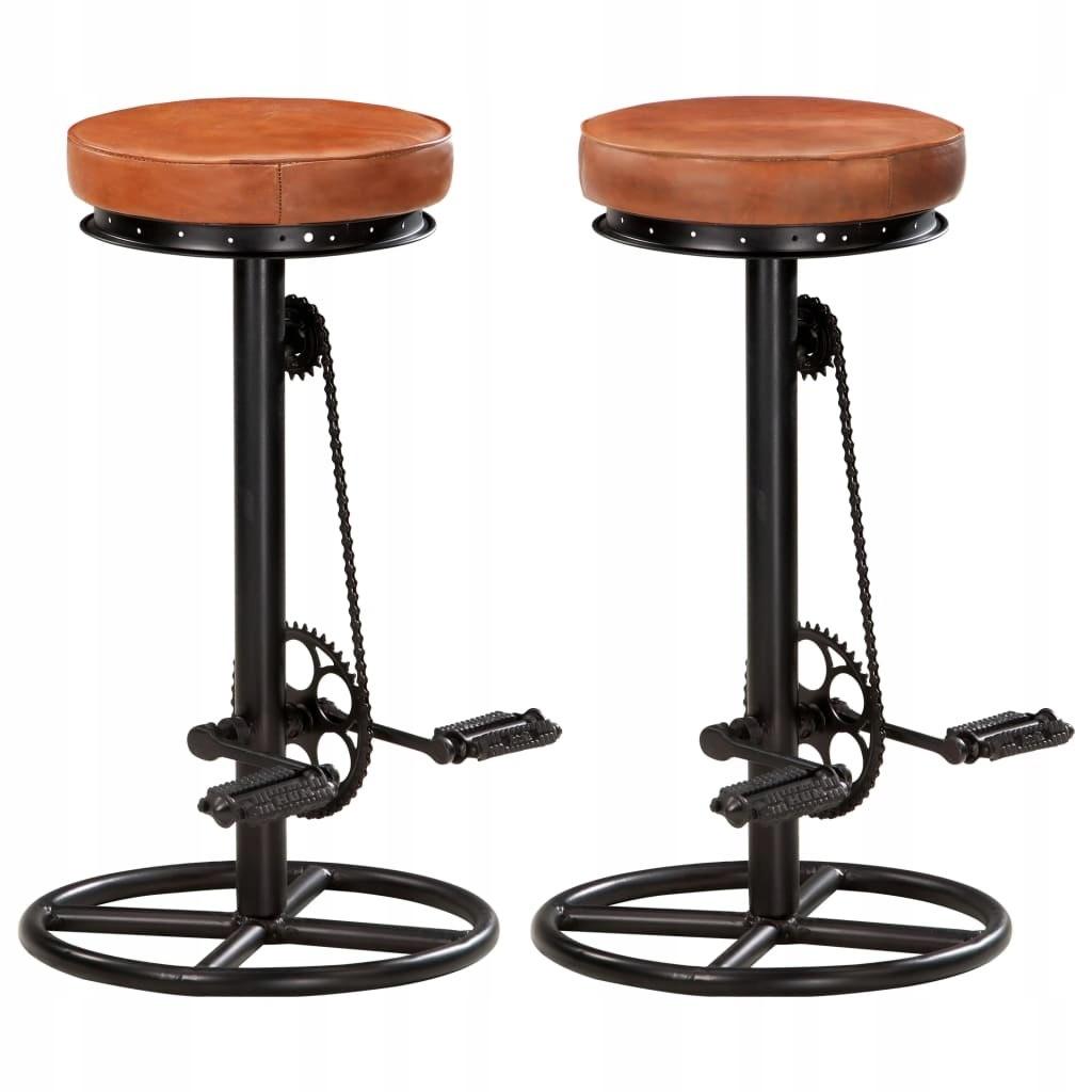 Bar stoličky, 2 Ks., čierno-hnedá, prírodná