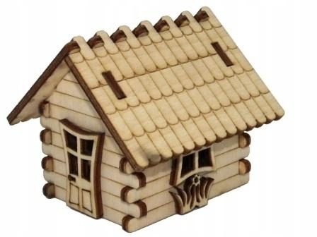 3D фанерный дом / стеклянный лесной декор