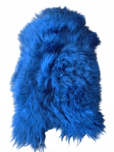 Koberec Kožené Ovce Ostrov Modrá 111-130 cm