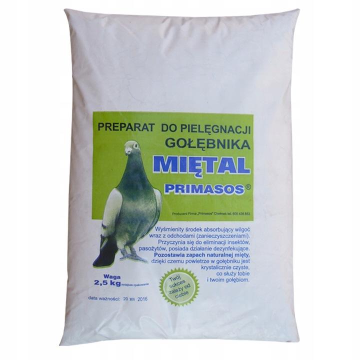 Miętal- pielęgnacja gołębnika 2,5 Kg PRIMASOS