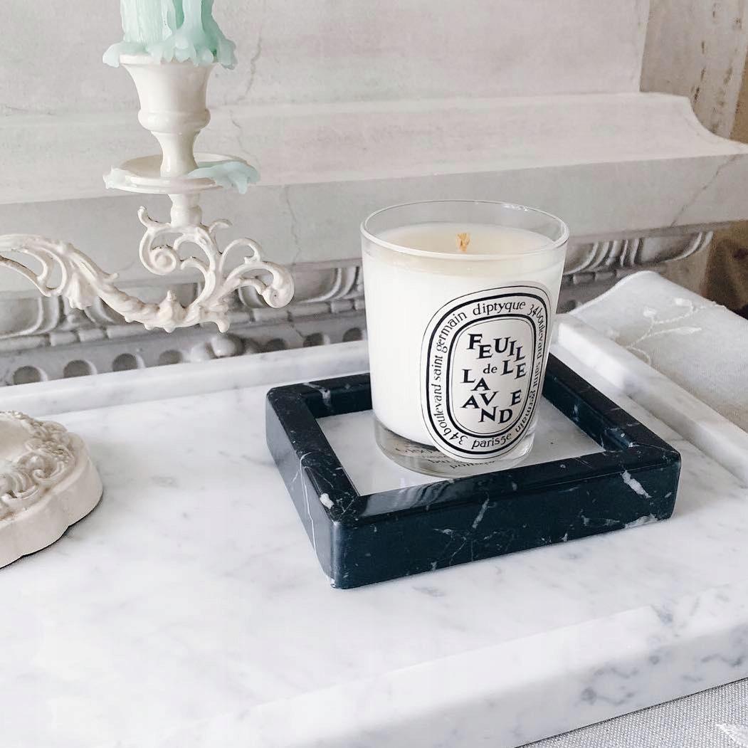 Kamenná miska na mydlo z čierneho a bieleho mramoru 13x10cm