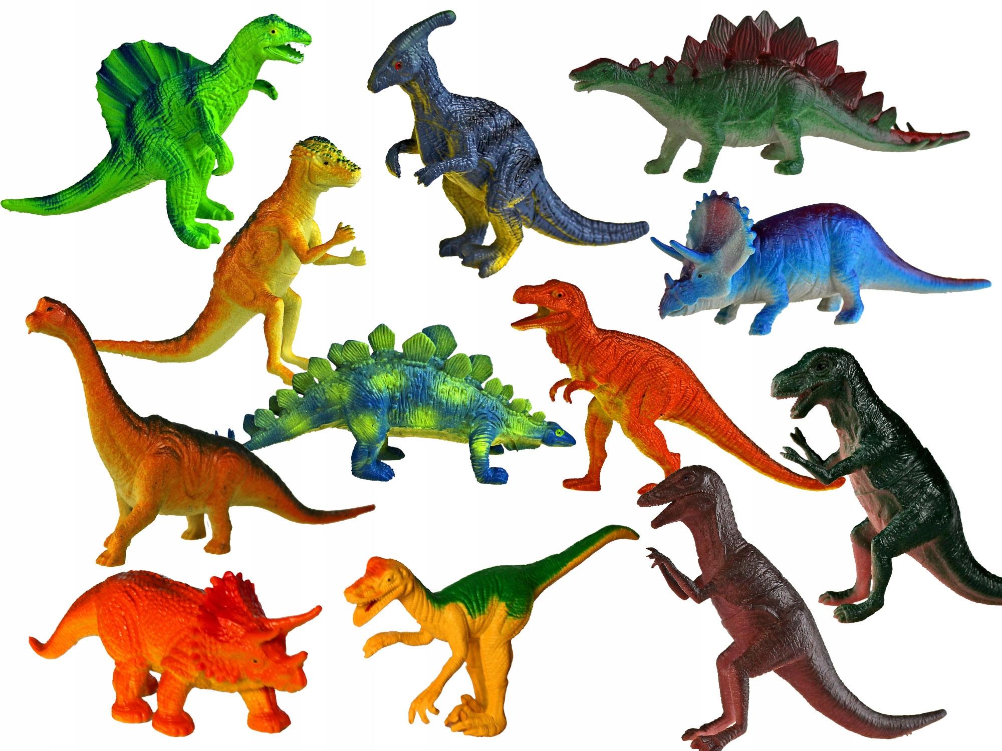 DINOZAURY Zestaw 12 sztuk FIGURKI Zwierzęta