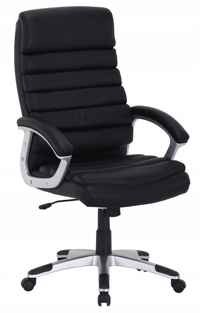 Otočná stolička q-087 čierne, koženkové signál