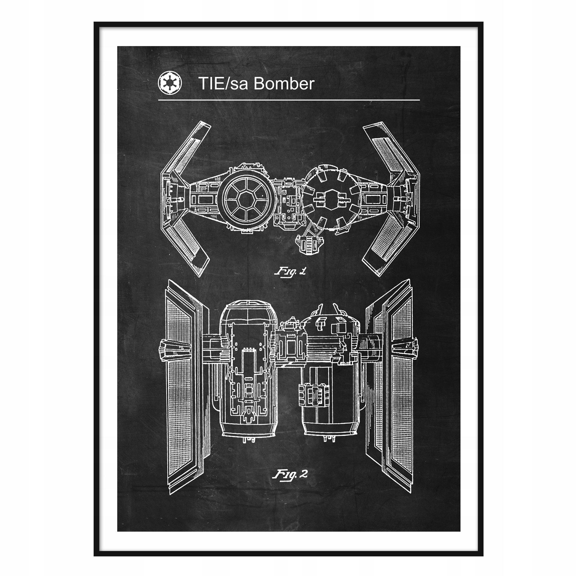 Plagát Retro Star Wars KRAVATU Bombardér Patentového Systému