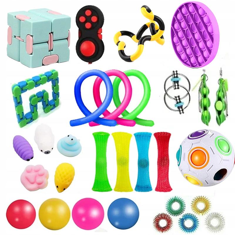 30szt Zestaw Fidget Bubble Toys dla dzieci