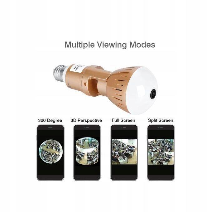 Kamera WiFi monitoring 360 Żarówka LED audio 1080P Model Zarówka SPY