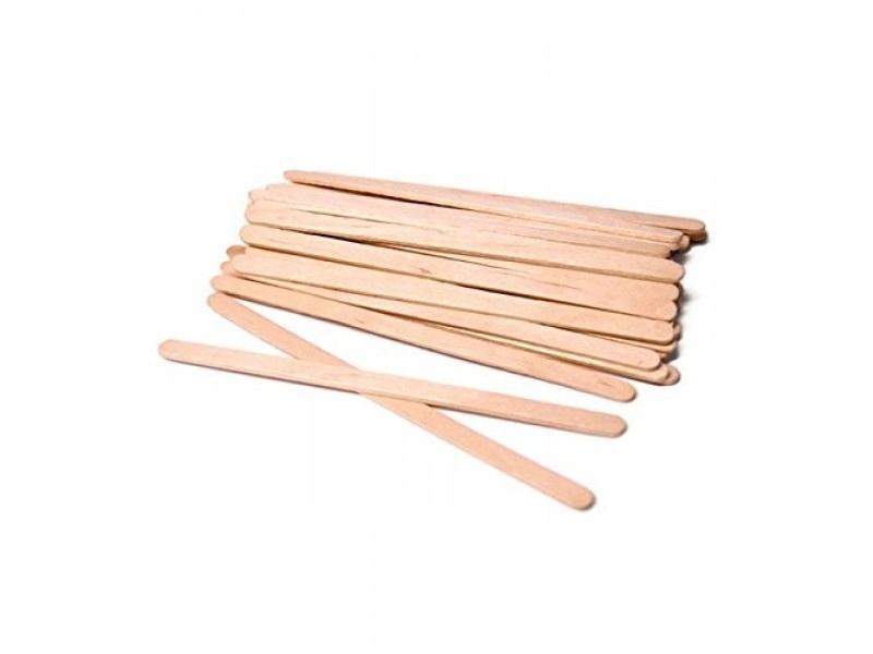 Patyczki do wosku Szpatułki drewniane MINI 100szt Liczba sztuk w opakowaniu 100 szt.
