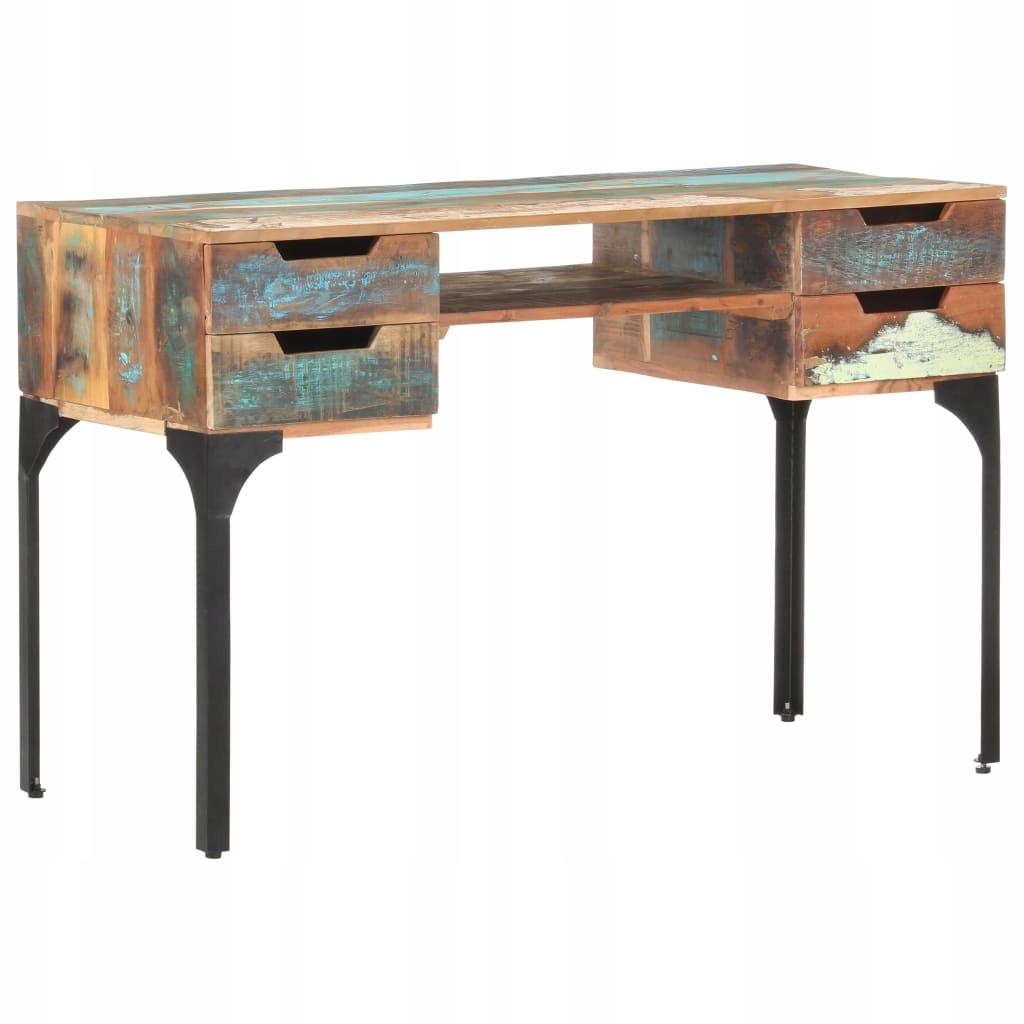 Priemyselný stôl regenerovaný retro loftové drevo