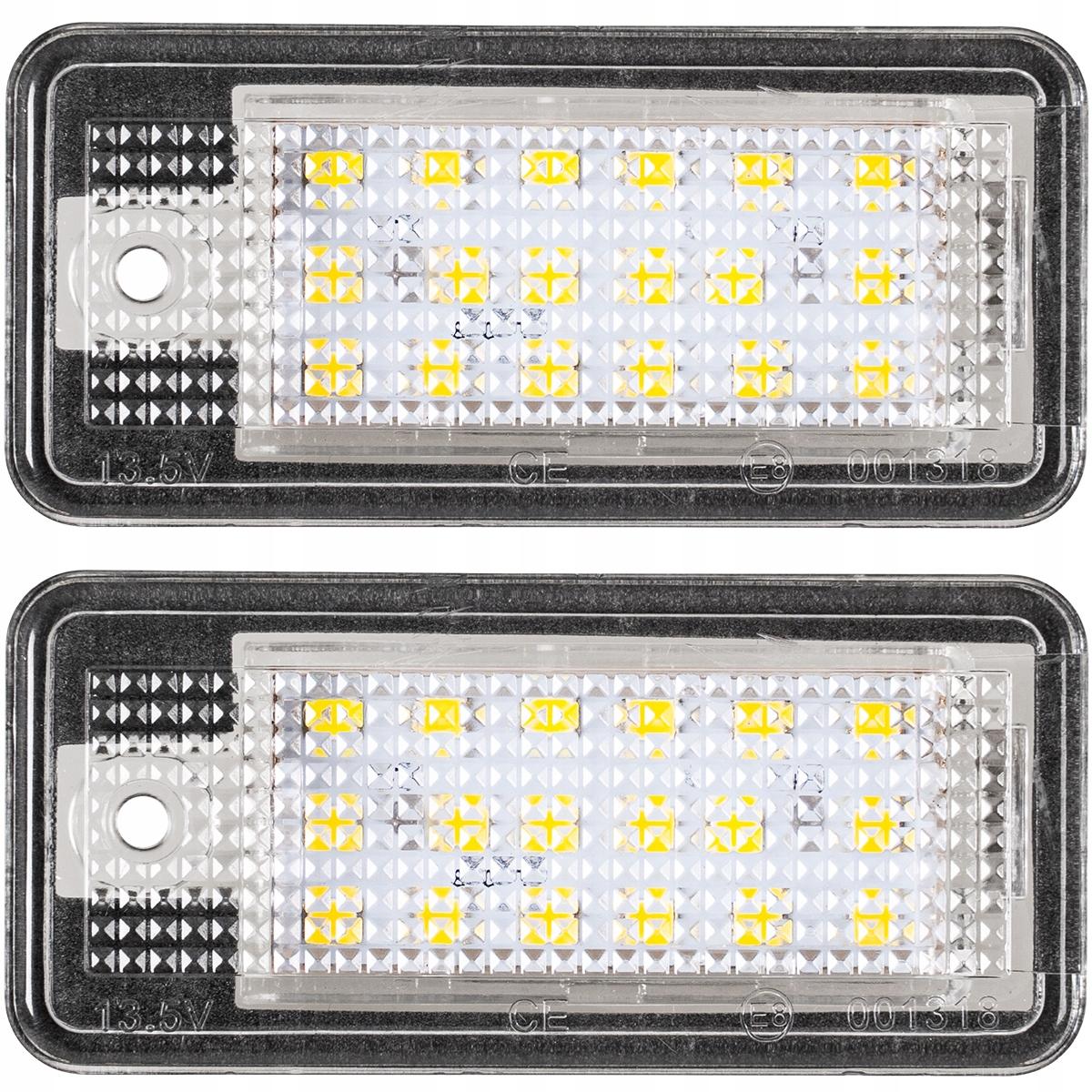 2x лампы led подсветка audi a3 a4 b6 b7 a5 a6