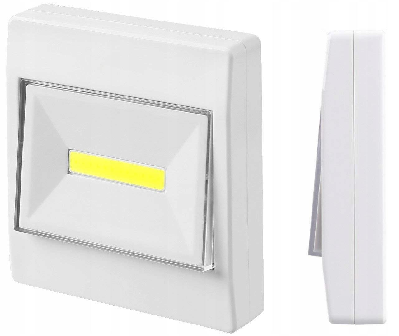 LAMPKA WŁĄCZNIK LED COB 3W NA BATERIE + MAGNES