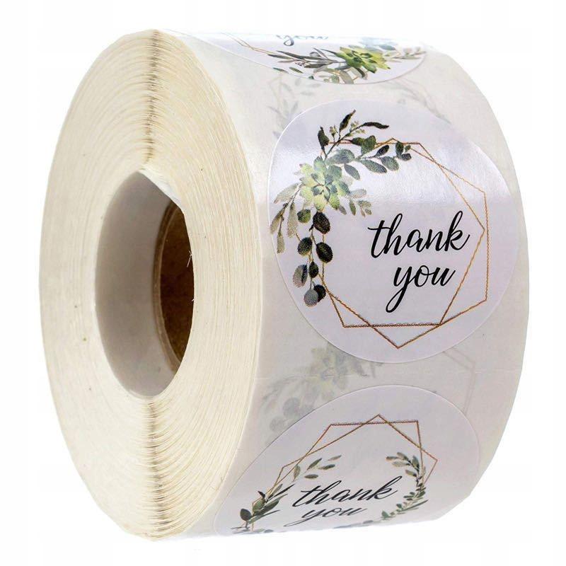 Декоративные наклейки Спасибо - дизайн 2, 500 штук