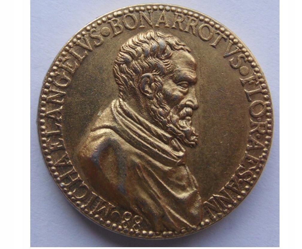 Medal WŁOCHY FLORENCJA Michelangelo Buonarroti