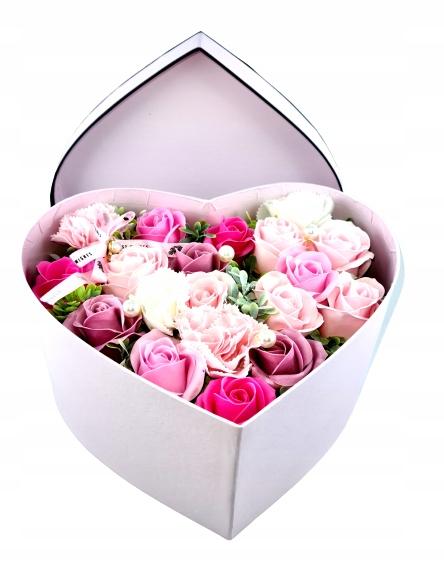 СЕРДЦЕ Цветочная коробка День бабушки Мыло на День святого Валентина