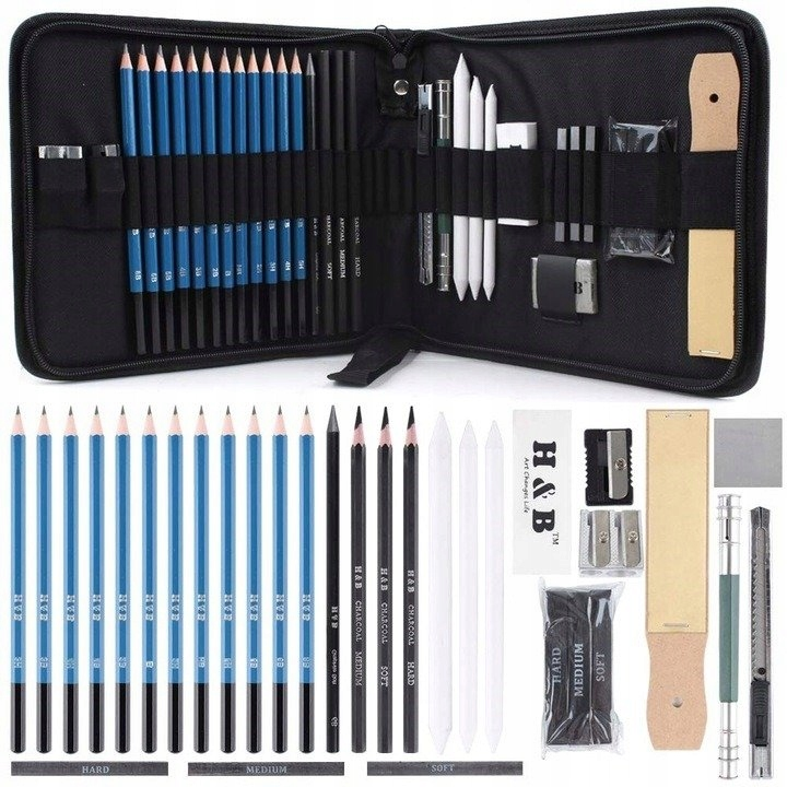 Item PROFESSIONAL SET FOR SKETCHING DRAWING 33w1