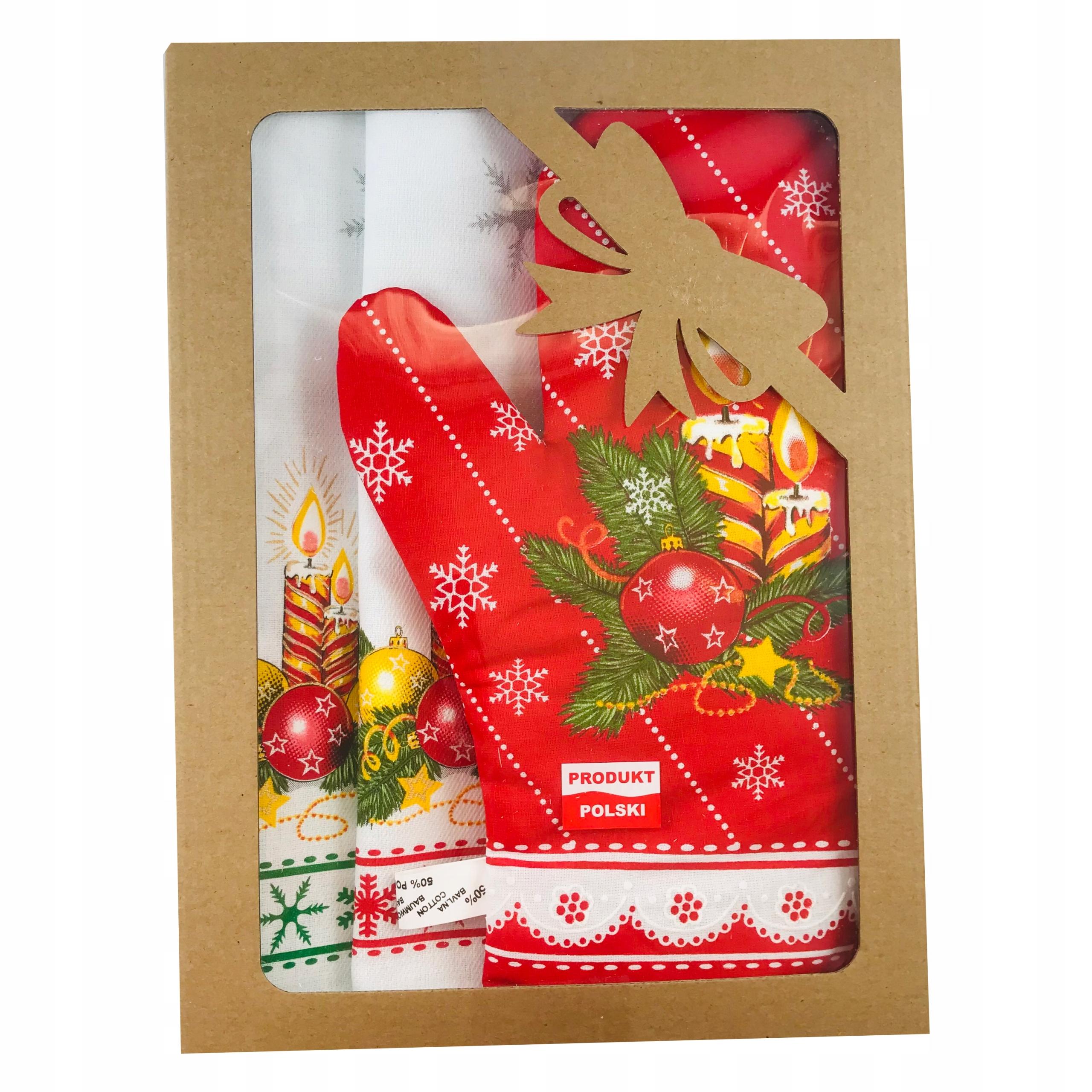 Рождественский кухонный гарнитур 2 скатерти митенки 1