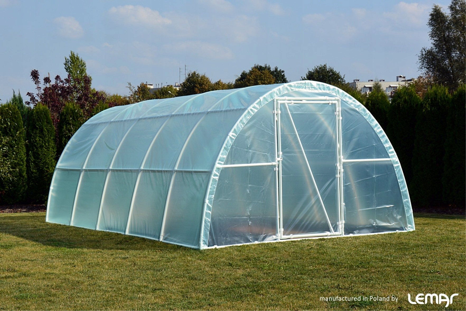 Záhradný fóliový tunel Skleník 10x3 4-sezónna fólia EAN 5907542760117