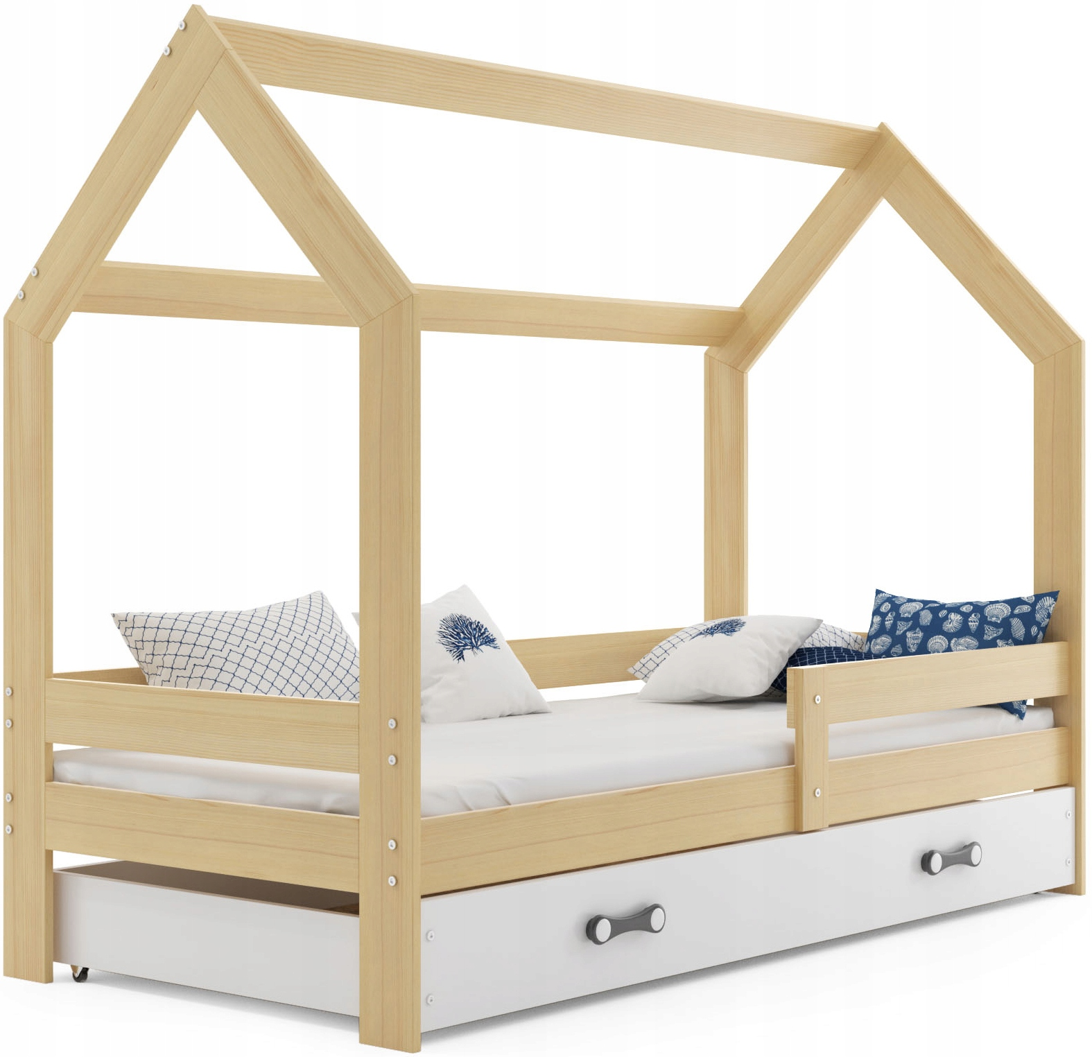 Łóżko Domek dziecięce materac stelaż od INTERBEDS