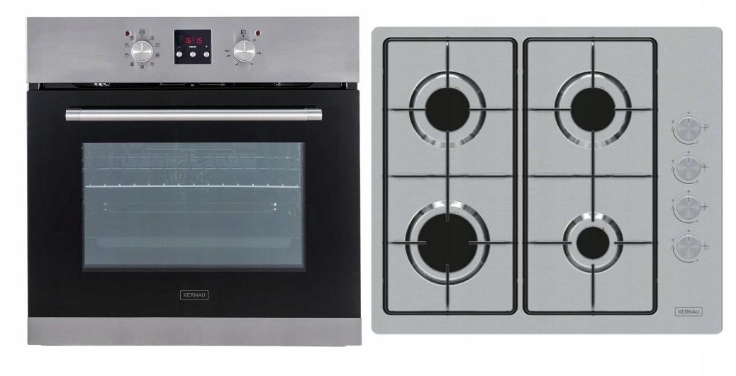 Комплект: электрическая духовка + газовая плита Kernau