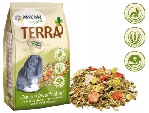 Pokarm dla królika miniaturki Terra Vadigran 1 kg