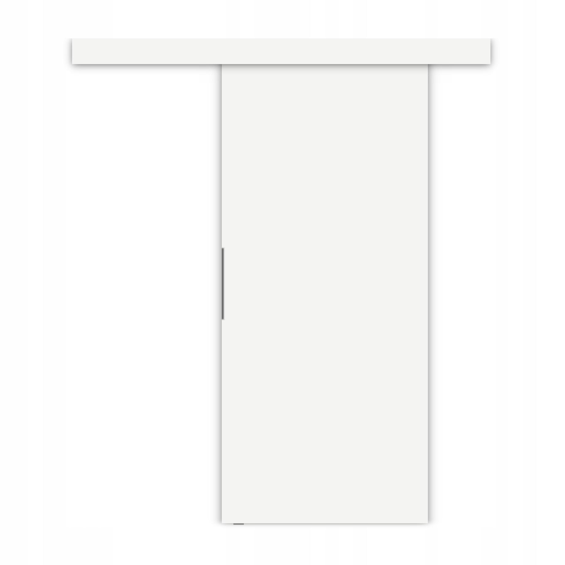 Drzwi przesuwne naścienne ALFA + system przesuwny