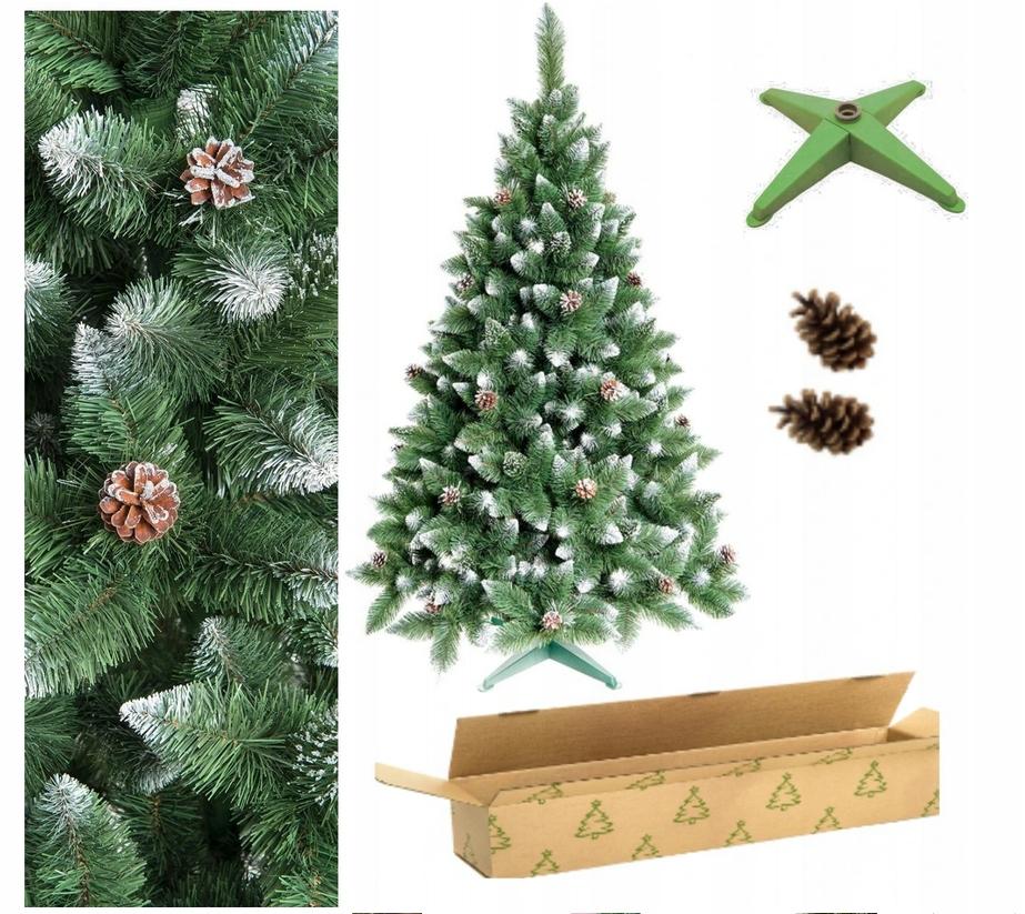 Vianočný stromček DIAMANTOVÁ Borovica 90 cm HUSTÝ