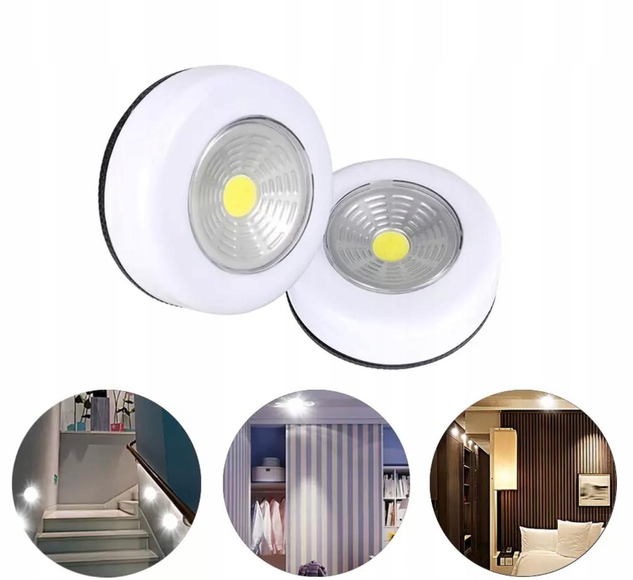 Беспроводной клейкий светильник для шкафа-купе