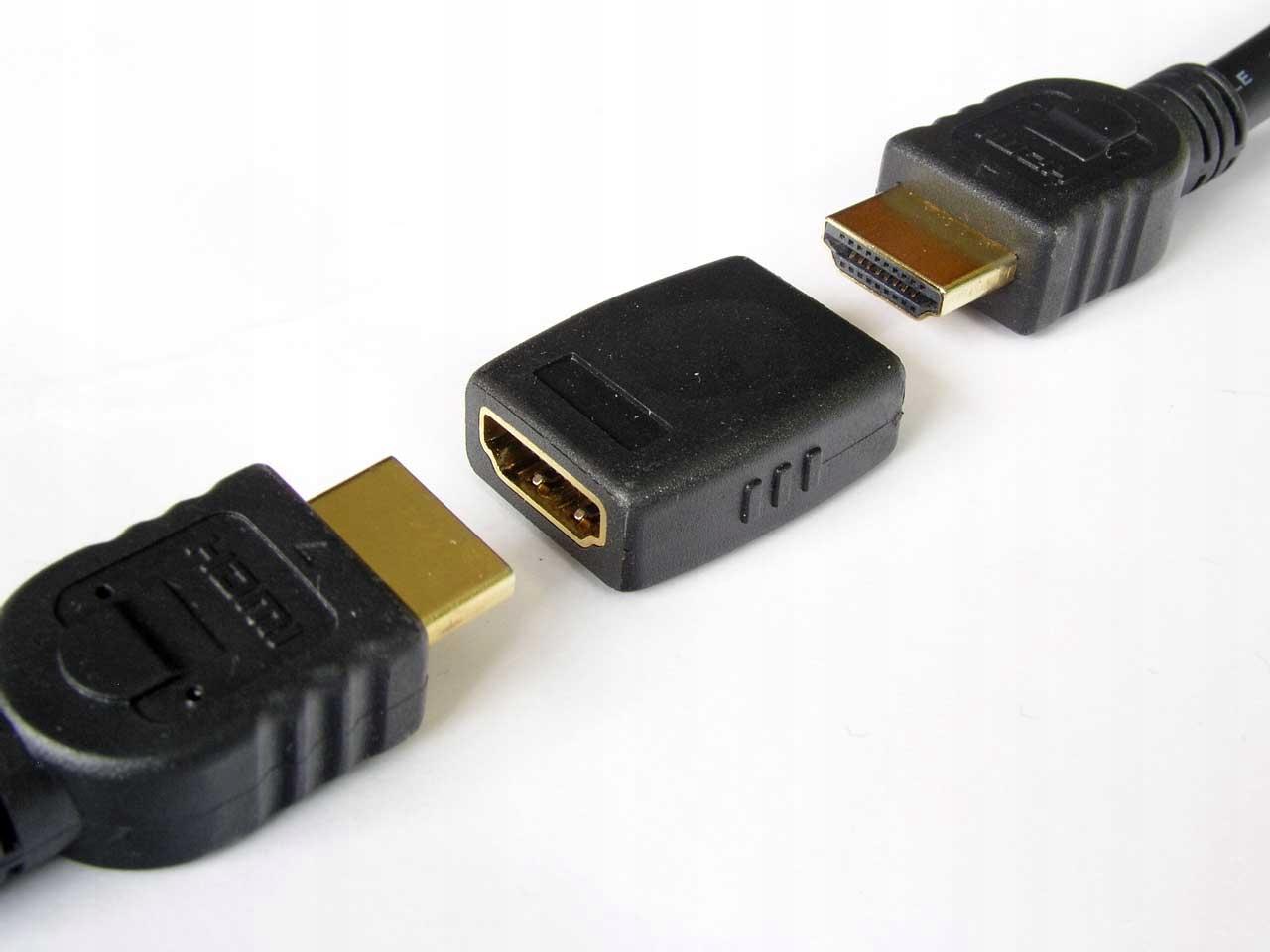 Łącznik Adapter Beczka Połączenia Dwóch Kabli HDMI Marka Cabletech