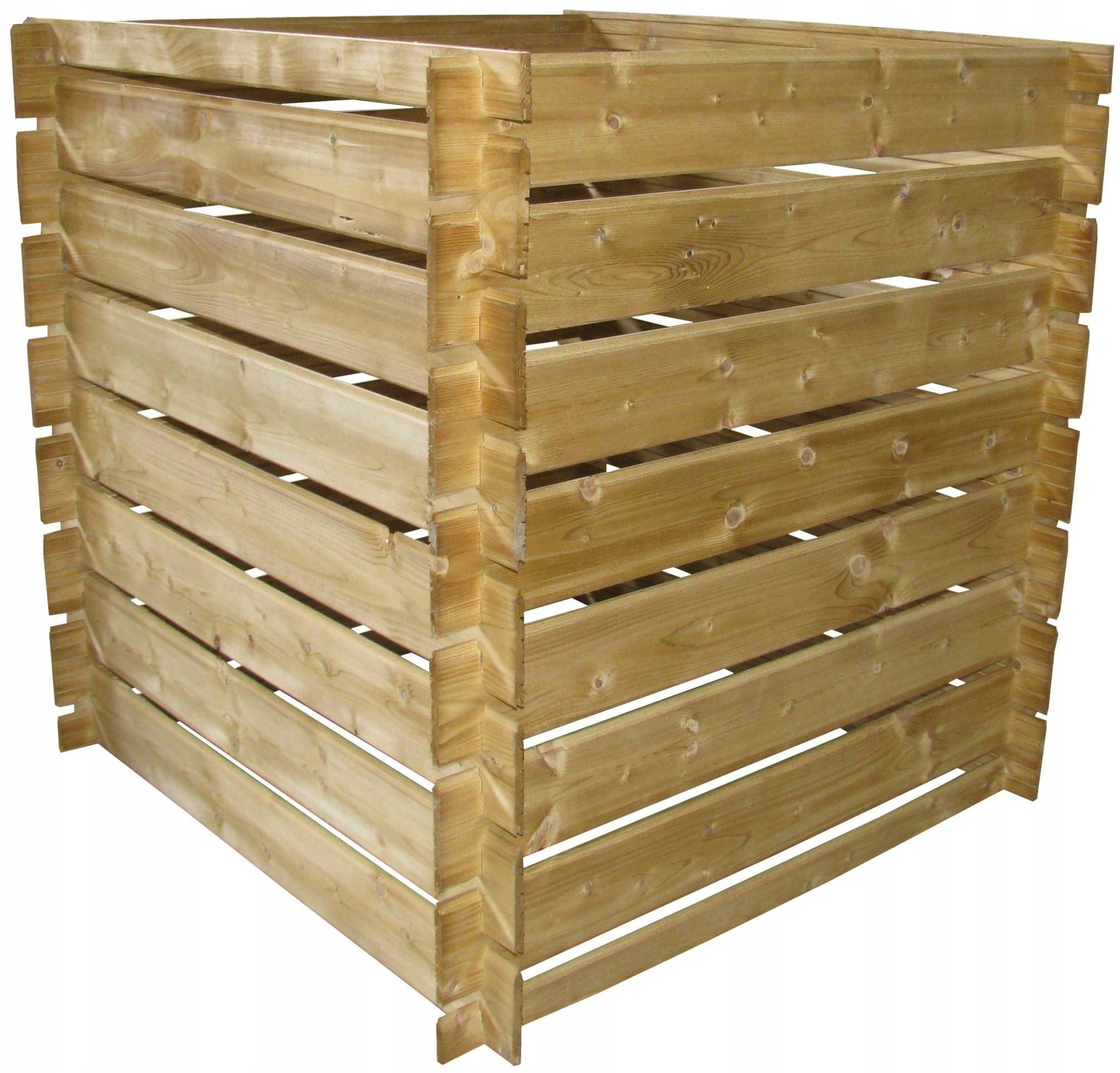 Компостер деревянный 120х80х80, 800 литров