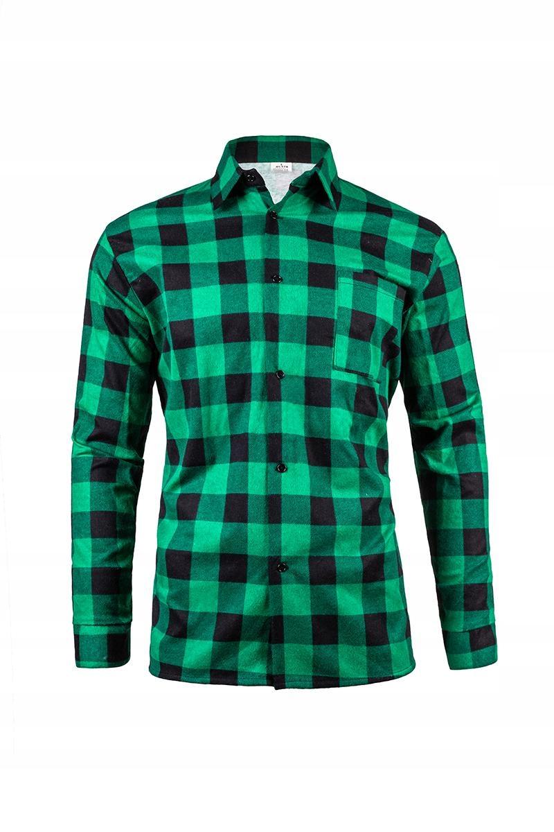 Flannel košeľa v zelenej veľkosti L