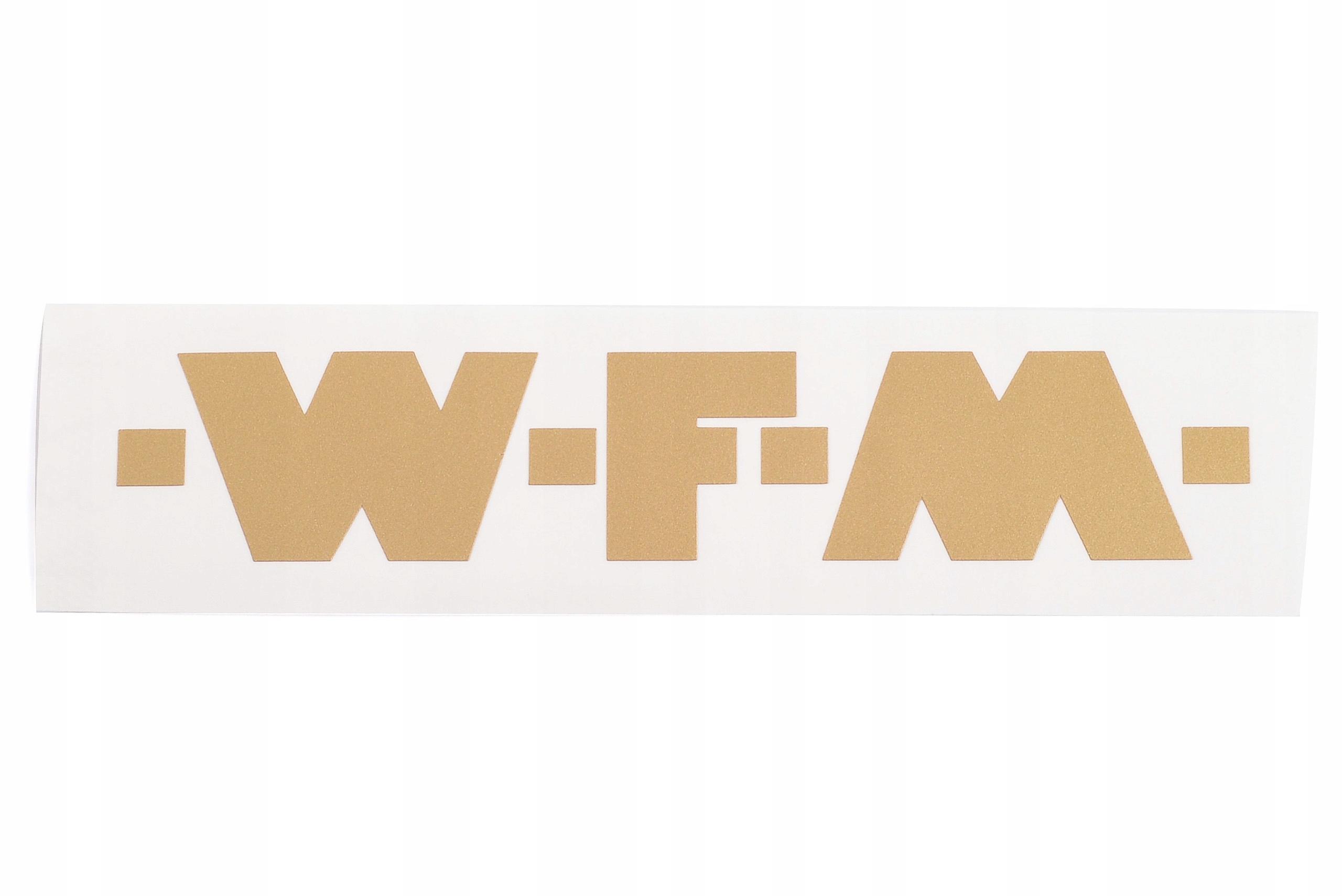 WFM M06 125 STICKER TANK FUEL THE TANK GOLD