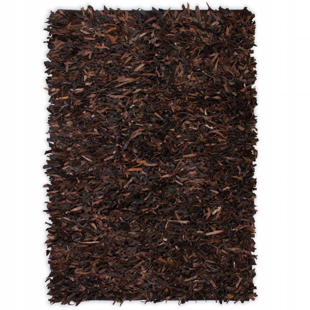Shaggy koberec prírodná koža 80x160cm br