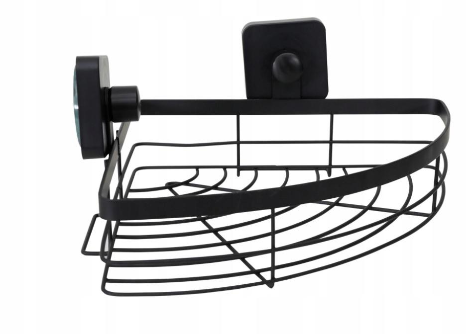 Угловая полка для ванной loft industrial black