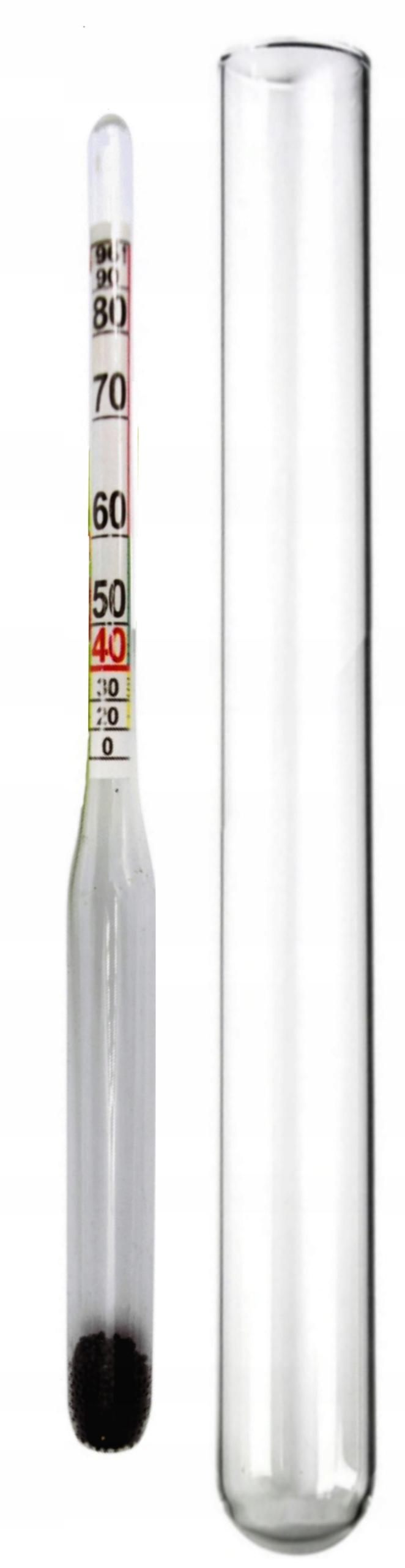 ALKOHOLOMIERZ MIERNIK ALKOHOLU - 96% MENZURKA 16cm