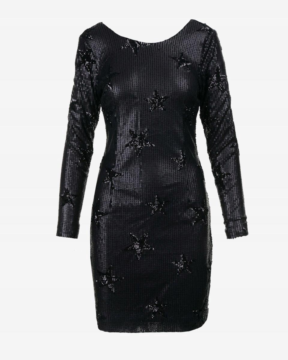 Reserved Cekinowa sukienka damska czarna r. 38