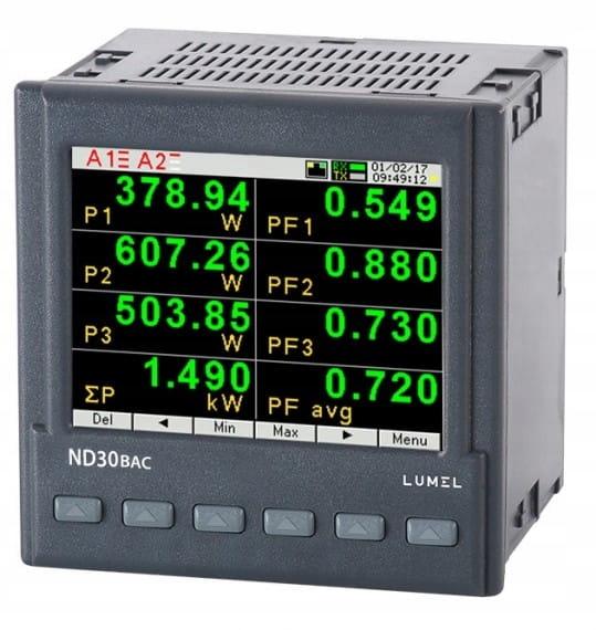 1- a 3-fázový sieťový merač ND30BAC 112100P0