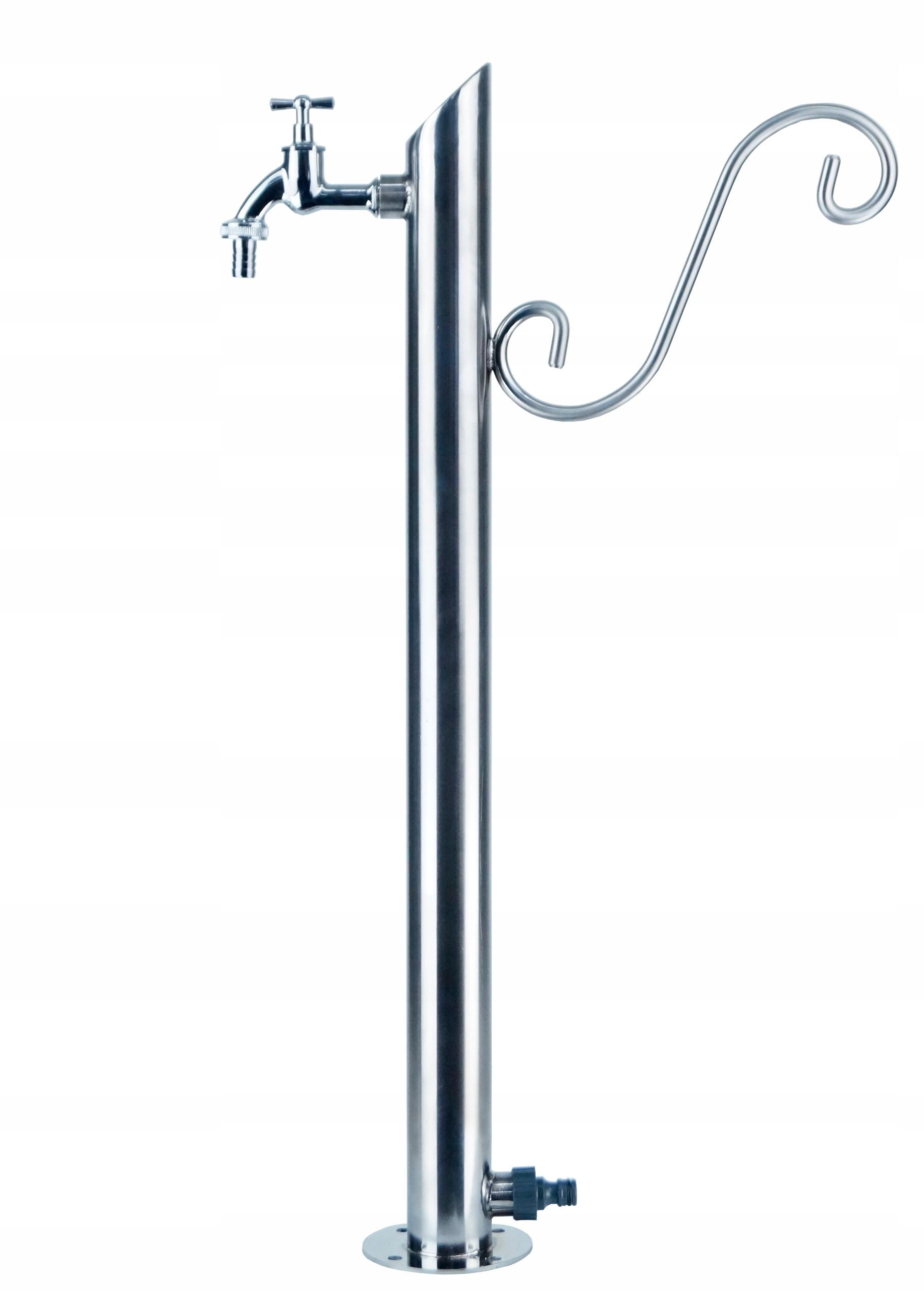 Kran Ogrodowy hydrant 70cm INOX kranik słupek