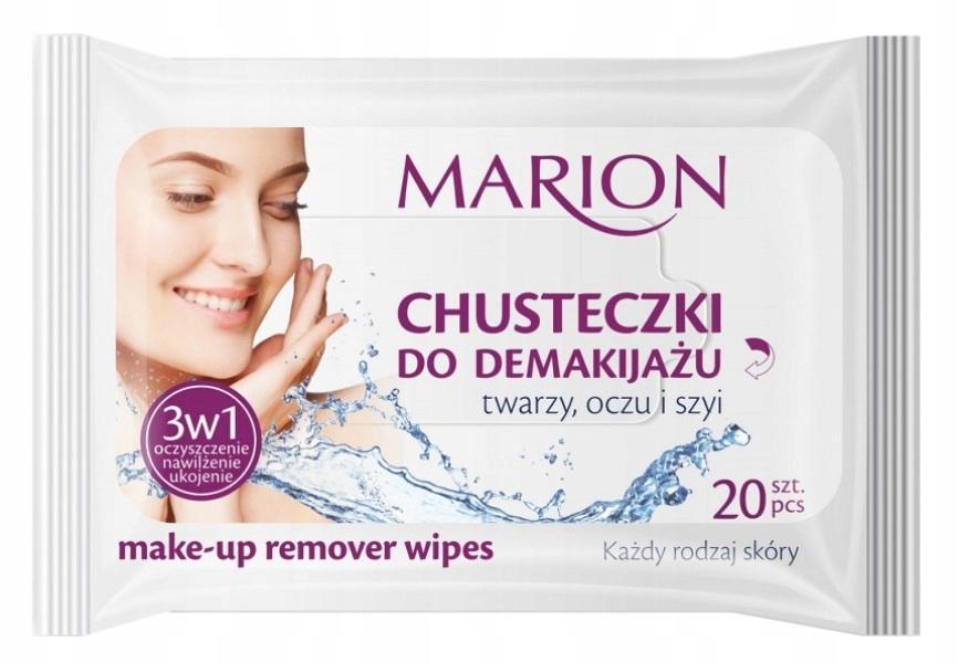 Салфетки для снятия макияжа MARION для лица, глаз и шеи