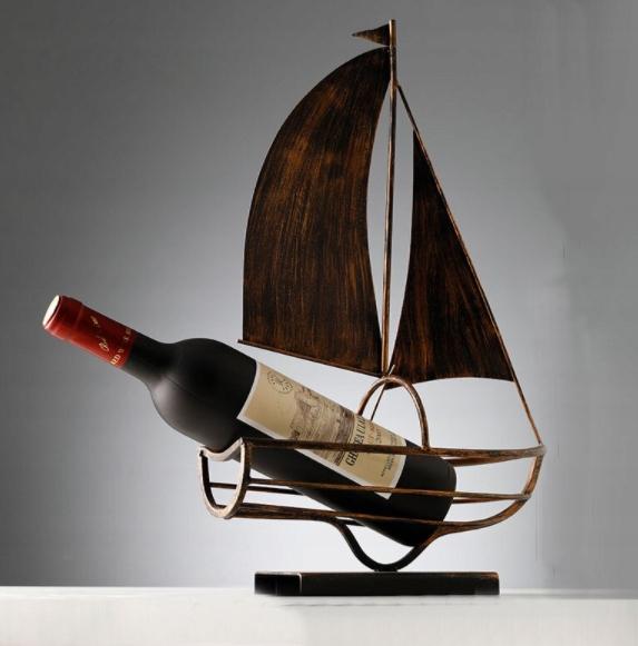 Držiak na víno Retro Vintage Sail Rack