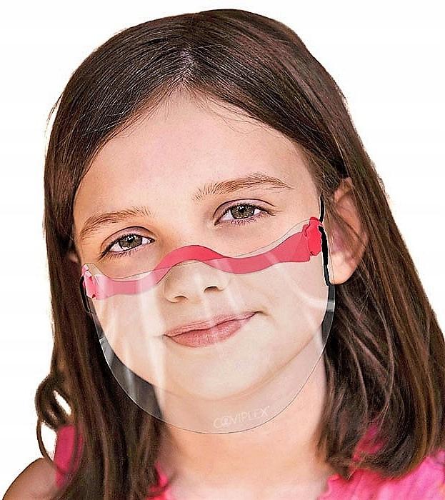 Maska Coviplex Slim przyłbica dziecięca Scarlet