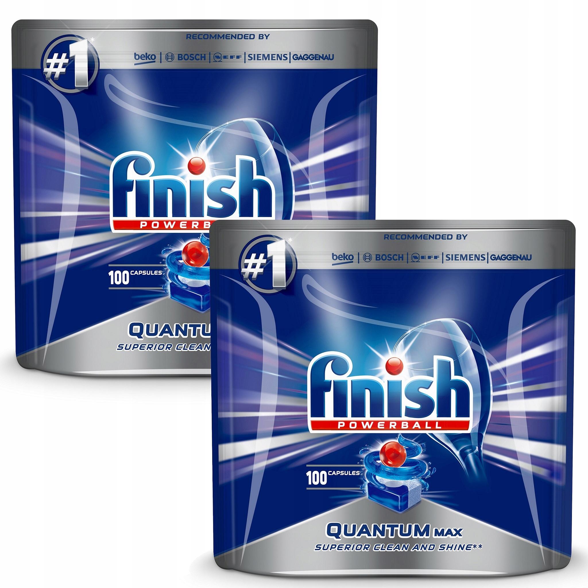 Закончите Квантовая MAX Dishwasher таблетки 2x100pcs No 25