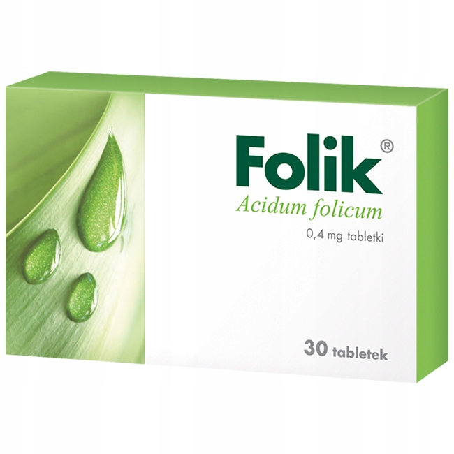 Folik 0,4mg kwas foliowy lek Acidum folicum 30x