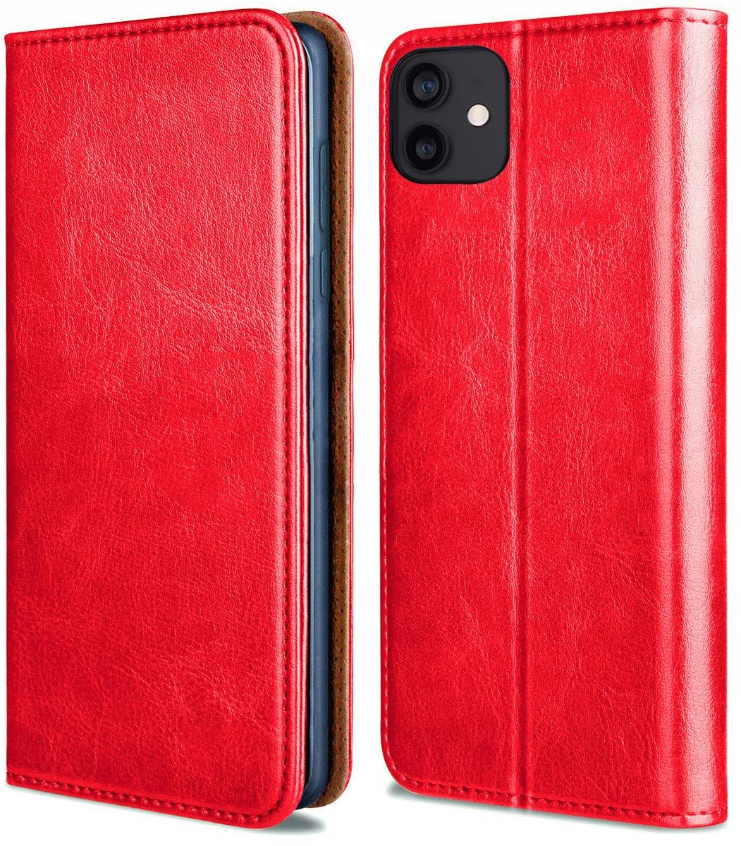 Etui do iPhone 12 Mini Skórzane Portfel + Szkło 9H